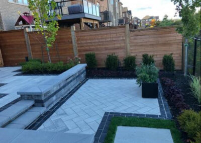 backyard flooring and garden